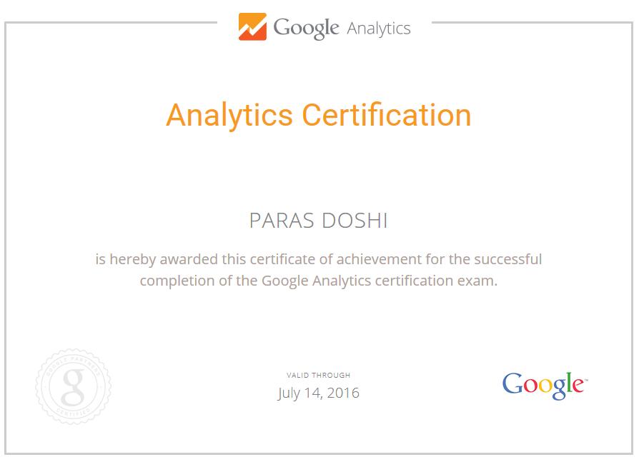 Achievement Unlocked Passed Google Analytics Certification Exam